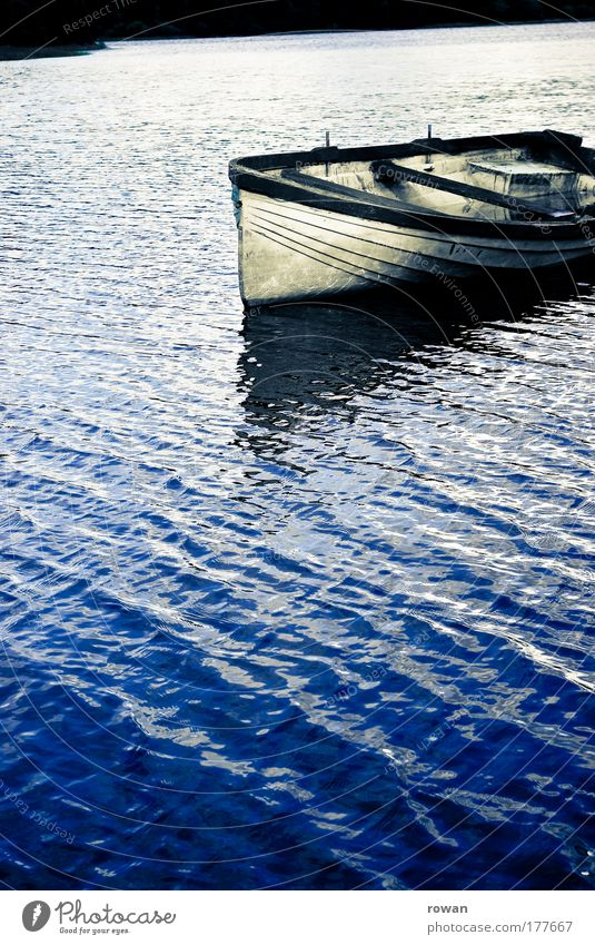 Blue Calm Loneliness Cold Relaxation Lake Watercraft Leisure and hobbies Navigation Fishing (Angle) Rowboat Fishing boat Dinghy Motorboat Boating trip