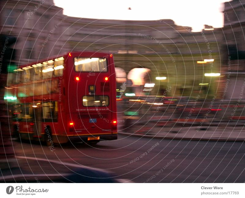 london in motion London Evening Europe Bus Movement Dusk Town