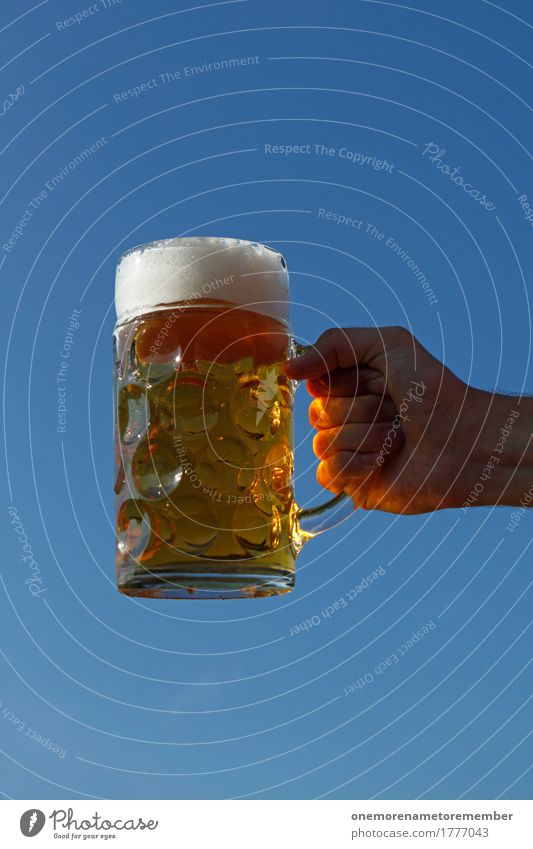 Oktoberfest - Beer power Beverage Esthetic Beer garden Beer glass Froth Beer mug Toast To hold on Gold Sun Beautiful weather Colour photo Multicoloured