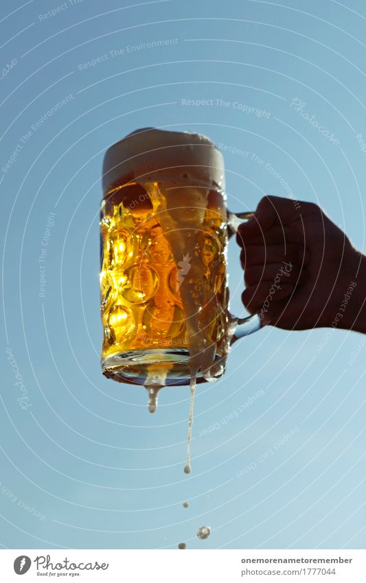 Oktoberfest - Prooost! Art Esthetic Beverage Delicious Thirst Thirst-quencher Cold drink Thirsty Beer Beer garden Beer glass Froth Beer mug Bavaria Gold Cone