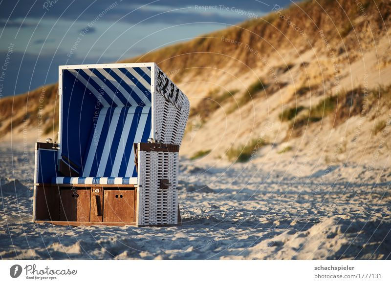 Get some rest #1 Vacation & Travel Tourism Freedom Summer Summer vacation Beach Ocean Island Landscape Sky Clouds Coast North Sea Sylt Blue Brown White