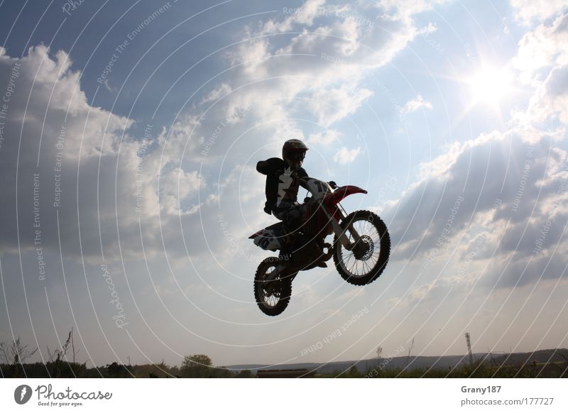 Human being Man Youth (Young adults) Blue Sports Emotions Style Happy Adults Masculine Flying Lifestyle Driving Motorcycle Motorsports Young man