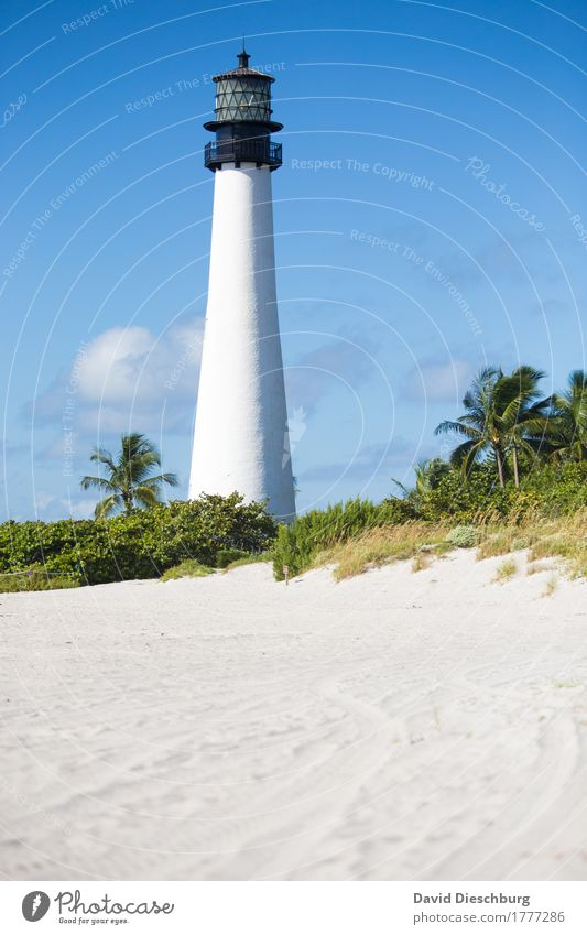 lighthouse Vacation & Travel Tourism Trip Far-off places Sightseeing Summer Summer vacation Sun Sunbathing Beach Ocean Island Landscape Sky Clouds