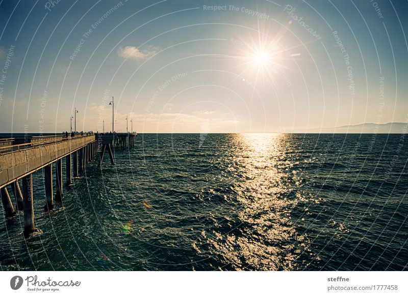 Sky Vacation & Travel Summer Sun Ocean Warmth Waves Beautiful weather Jetty California Pacific Ocean Los Angeles