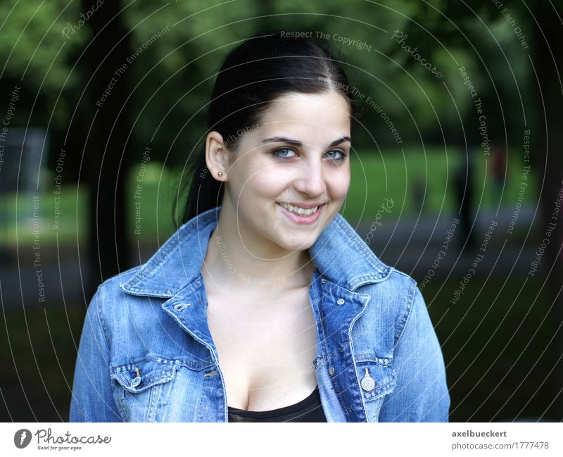 cheerful young woman in the park Joie de vivre (Vitality) Happiness Youth (Young adults) Lifestyle Joy Leisure and hobbies Human being Feminine Young woman