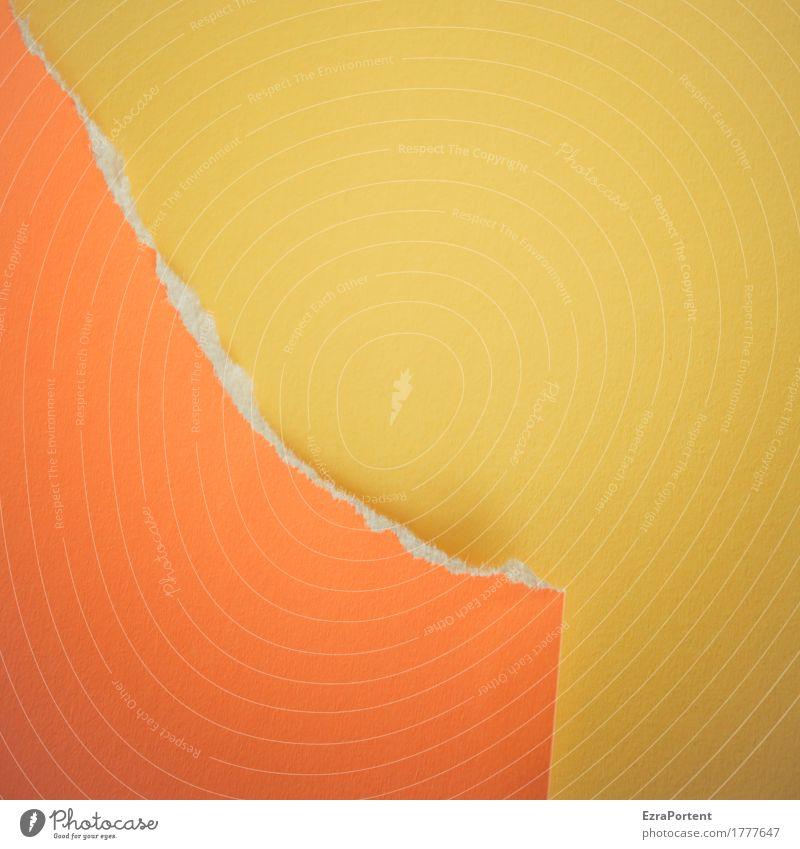 latest outline Style Design Handicraft Decoration Paper Line Yellow Orange Colour Advertising Destruction Dismantling Crack & Rip & Tear Background picture