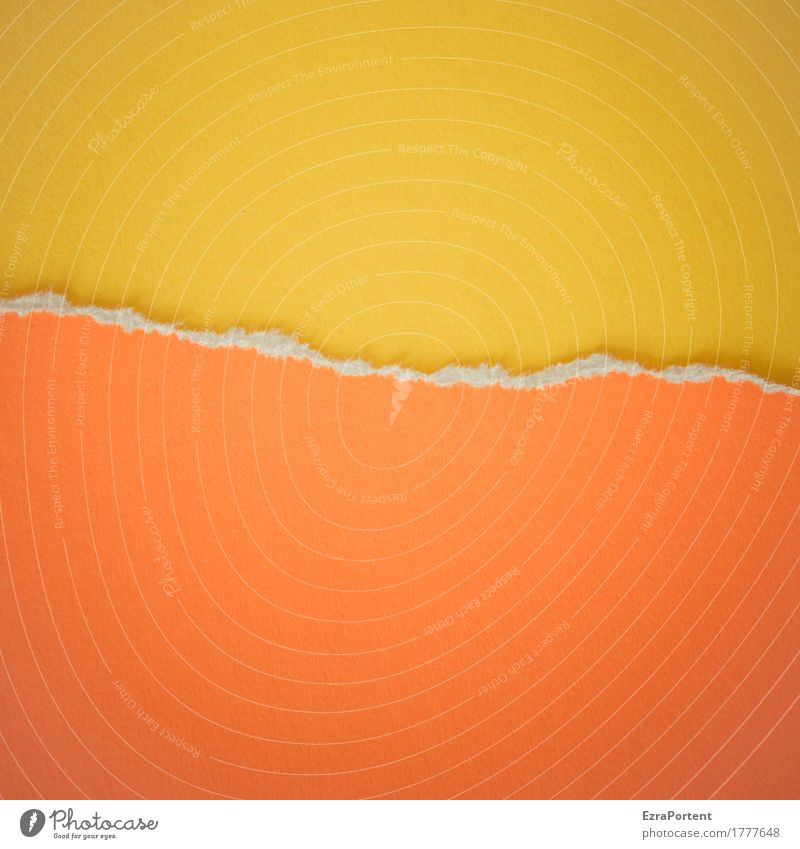 G~O Style Design Decoration Paper Line Bright Yellow Orange Colour Advertising Crack & Rip & Tear Edge Structures and shapes Half Divide Illustration Graphic