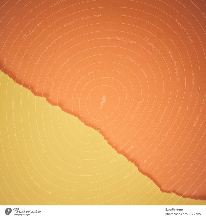 G~O Style Design Decoration Paper Line Stripe Yellow Orange Colour Advertising Crack & Rip & Tear Divide Dividing line Torn Broken Illustration Graph Graphic