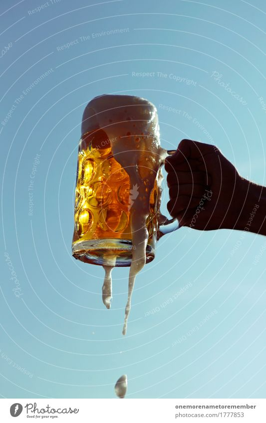 Oktoberfest - Cheers! Lifestyle Leisure and hobbies Art Esthetic Munich Bavaria Toast Foam Beer Beer garden Beer glass Froth Beer mug To hold on Heavy Lift