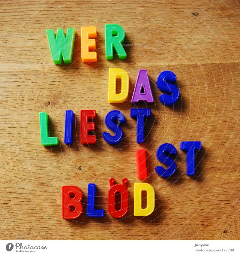 Simply BLÖD Colour photo Multicoloured Interior shot Deserted Playing Reading Table Parenting Education Kindergarten School Study Infancy Letters (alphabet)