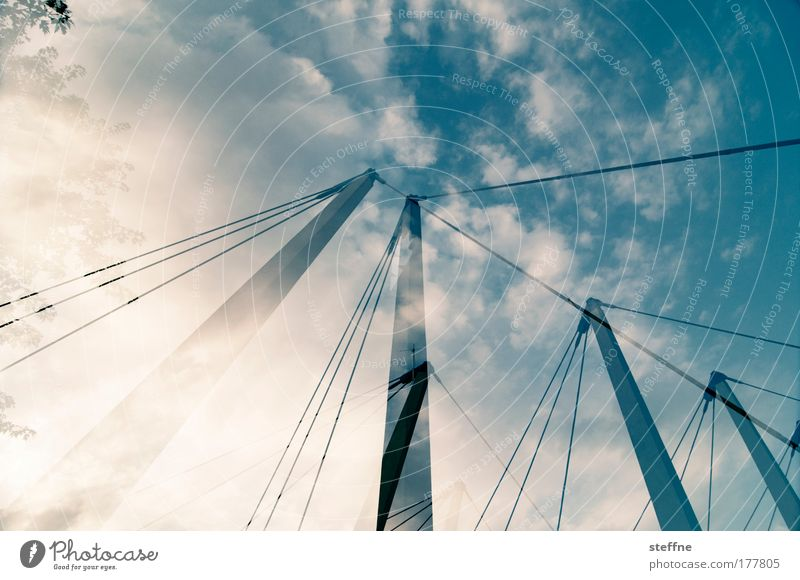 Sky Sun Vacation & Travel Clouds Architecture Bridge Beautiful weather Industrial plant Sailing ship Chemnitz Back-light