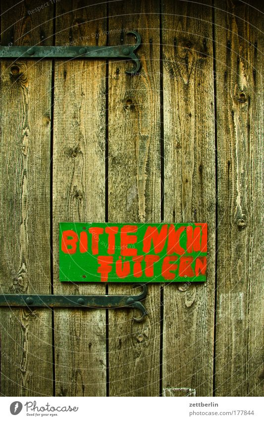 please do not feed Agriculture Trip Farm Vacation & Travel Animal Door Gate Wooden board Shed Wooden fence Wooden wall Metal fitting Signs and labeling