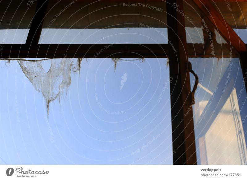 alter kram beim sonnenaufgang Old Sky Sun Blue Colour Style Window Broken Cloth Hang Curtain Rag