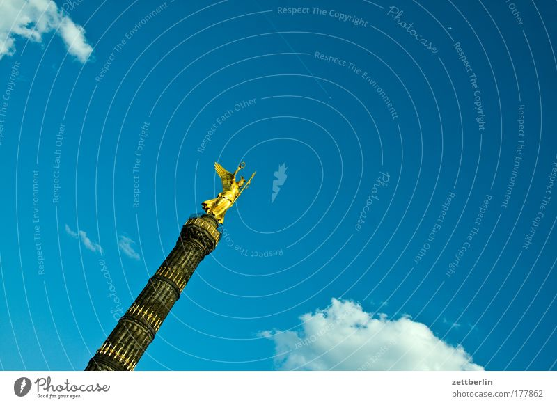 Siegerinnensäule Berlin Capital city Victory column Victoria Berlin zoo big star Crossroads Road junction Tourism Monument War monument militarism Statue Sky