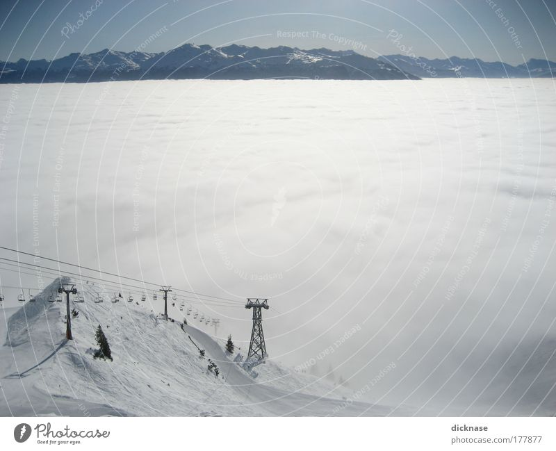 ...above the clouds the snow must be boundless! Colour photo Exterior shot Copy Space right Copy Space middle Morning Panorama (View) Winter sports Ski run