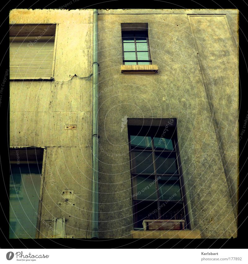 Old City House (Residential Structure) Loneliness Wall (building) Window Wall (barrier) Building Dirty Architecture Design Crazy Facade Lifestyle Factory