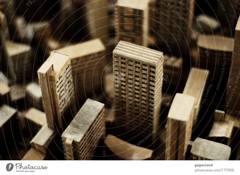 Paper House (Residential Structure) Street Window Building Bright Moody Brown Art Architecture Gold High-rise Facade Modern Macro (Extreme close-up)