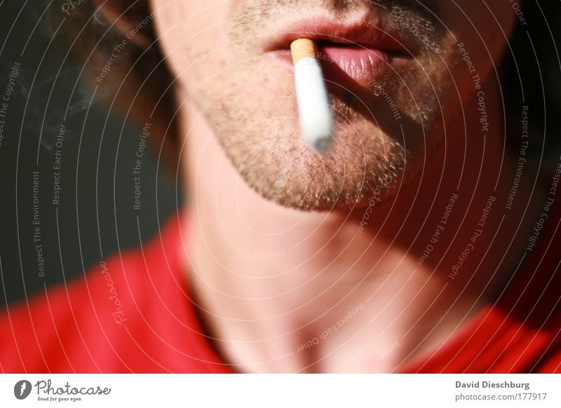 Human being Youth (Young adults) Adults Face Head Young man 18 - 30 years Skin Mouth Masculine Individual Smoking Lips Smoke Facial hair Cigarette