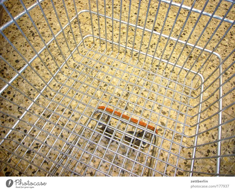 Shopping Cart Shopping basket Shopping Trolley Logistics Empty weekend shopping big purchase Grating Metal Metalware Consumption consumer society