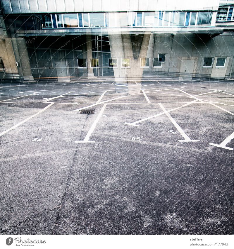 City Architecture Parking lot Double exposure Backyard Industrial plant Interior courtyard