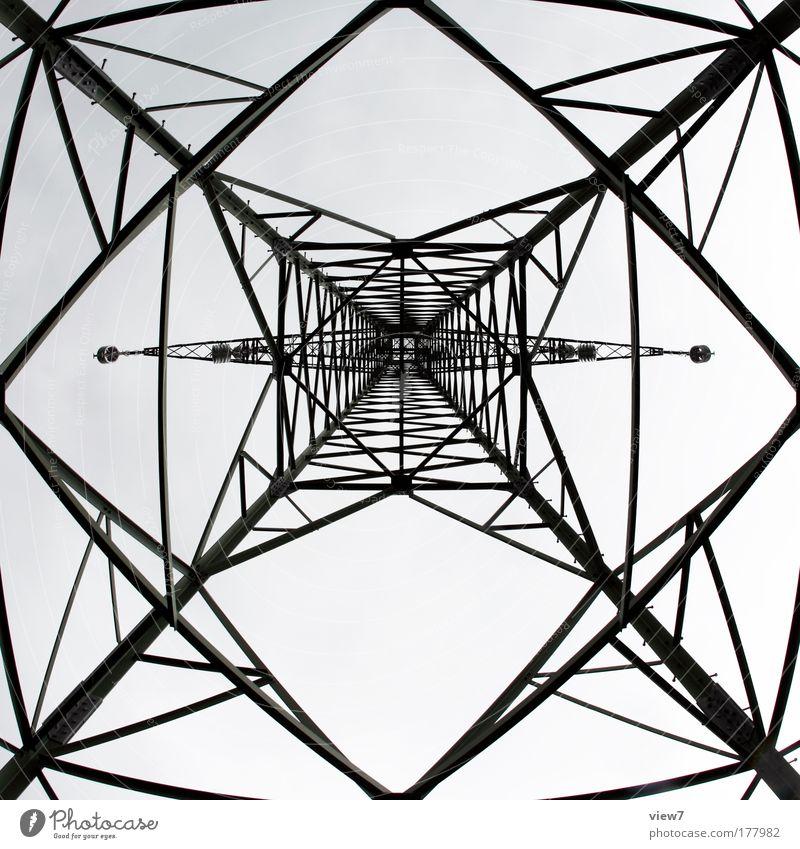 Sky Line Power Metal Elegant Energy Modern Energy industry Arrangement Esthetic Network New Technology Communicate Net Stripe