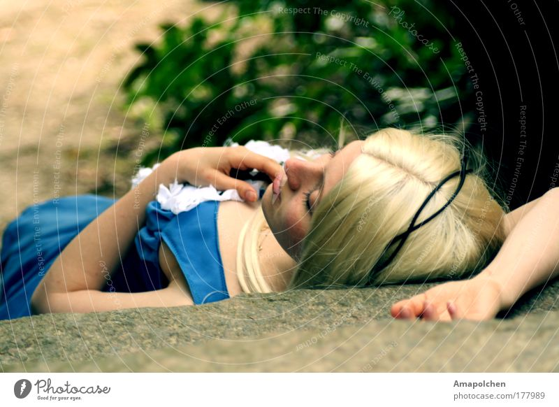 Sleeping Beauty Beautiful Summer Feminine Young woman Youth (Young adults) Woman Adults Emotions Contentment Joie de vivre (Vitality) Spring fever Optimism