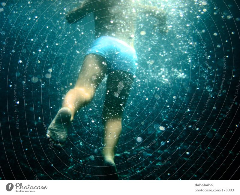 baby bubble Human being Child Nature Water Beautiful Vacation & Travel Summer Joy Boy (child) Freedom Movement Legs Feet Waves Infancy Swimming & Bathing