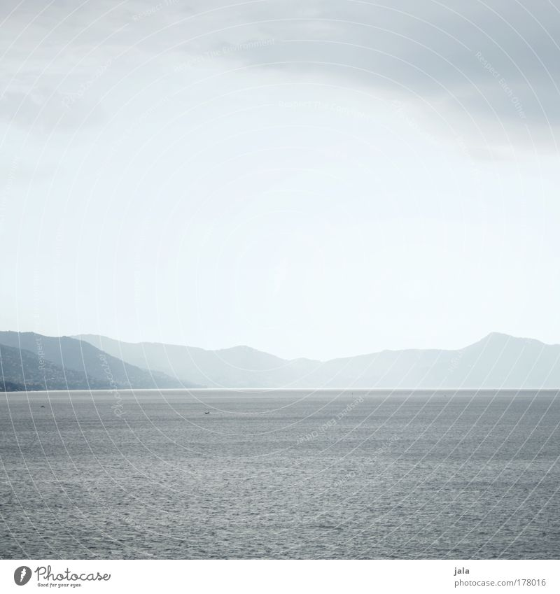 silence Colour photo Subdued colour Exterior shot Deserted Day Landscape Water Horizon Mountain Coast Ocean Far-off places Bright Calm