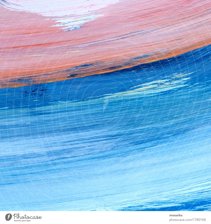 Sky Blue Colour Water Clouds Style Art Design Pink Contentment Waves Esthetic Paper Painting (action, artwork) Wellness Education