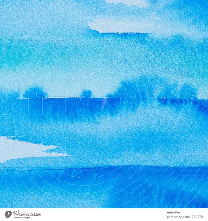 blue watercolours Design Education Kindergarten Child Painter Drop Blue White Joy Idea Inspiration Watercolor Painting and drawing (object) Dye Tempera