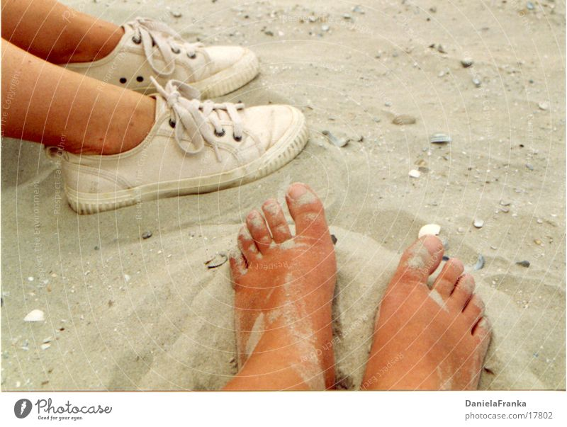Human being Summer Beach Relaxation Feet Sand Coast Sneakers Barefoot Norderney