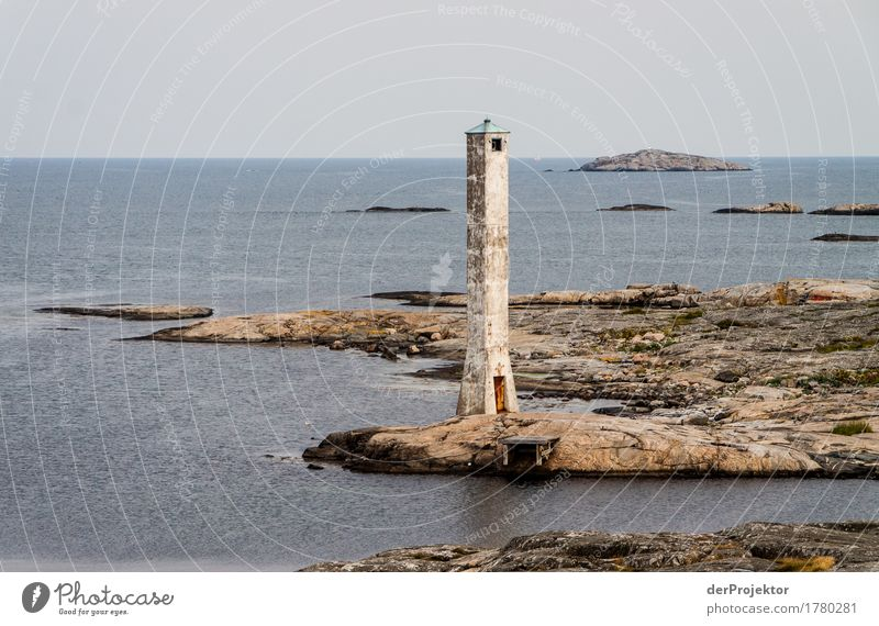 Historical lighthouse on the archipelago Vacation & Travel Tourism Trip Adventure Far-off places Hiking Environment Summer Rock Waves Bay Fjord Baltic Sea Ocean