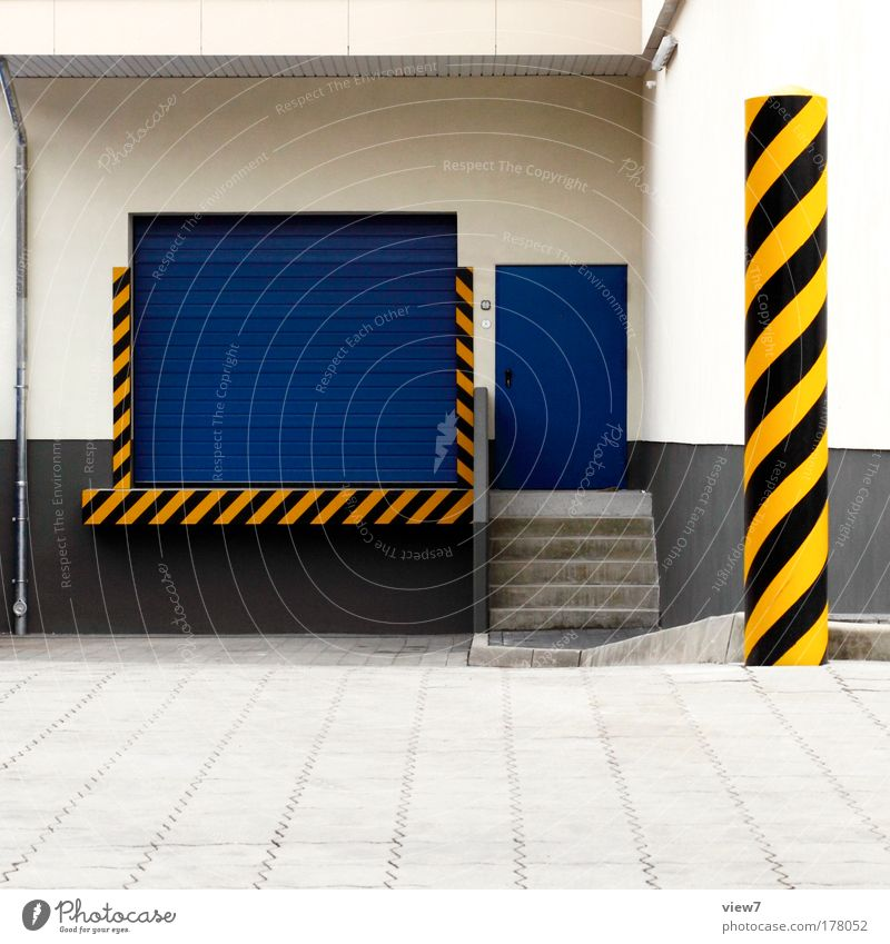 replenishment Colour photo Multicoloured Exterior shot Deserted Copy Space bottom Deep depth of field Industrial plant Transport Street Stone Metal Sign