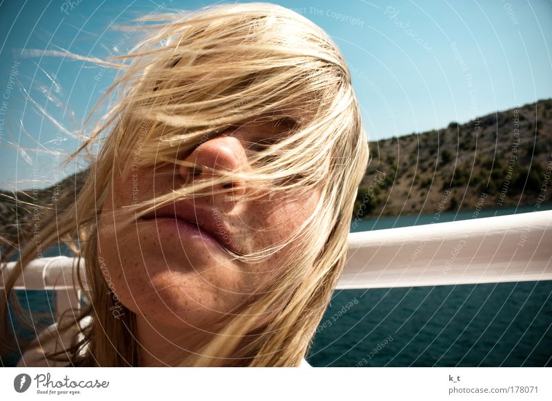 With the wind in your hair II Well-being Contentment Relaxation Calm Vacation & Travel Trip Freedom Summer Summer vacation Sun Ocean Feminine Young woman