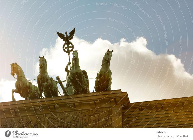 Green Blue Berlin Brown Architecture Gate Manmade structures Sculpture Landmark Germany Tourist Attraction Quadriga Brandenburg Gate