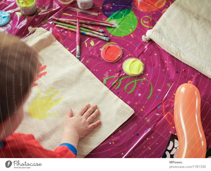 but a child's birthday party Human being Child Toddler Infancy Childhood memory Hand 1 Art Artist Painter Playing Painting (action, work)