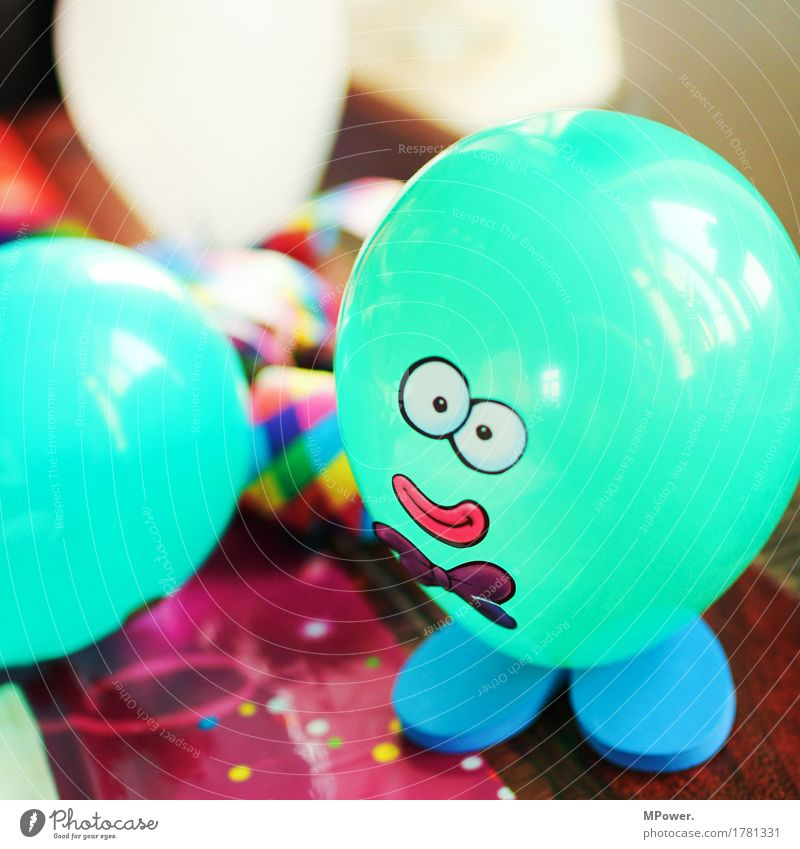mr.balloon Childrens birthsday Children's Party Balloon Hot Air Balloon Turquoise Handicraft Face Figure Feasts & Celebrations Party goer Multicoloured Colour