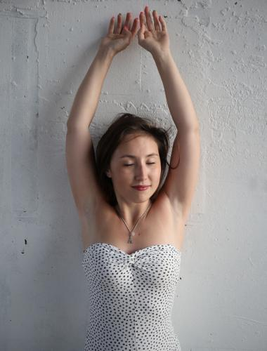 Human being Beautiful Relaxation Calm Wall (building) Life Feminine Wall (barrier) Happy Time Contentment Esthetic Stand Smiling Joie de vivre (Vitality)