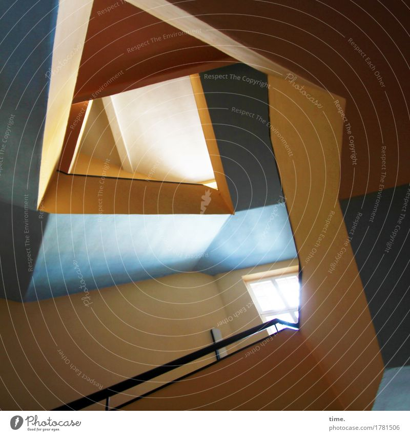 Tones   Box Jazz Work of art House (Residential Structure) Architecture Staircase (Hallway) Banister Esthetic Exceptional Elegant Hip & trendy Modern