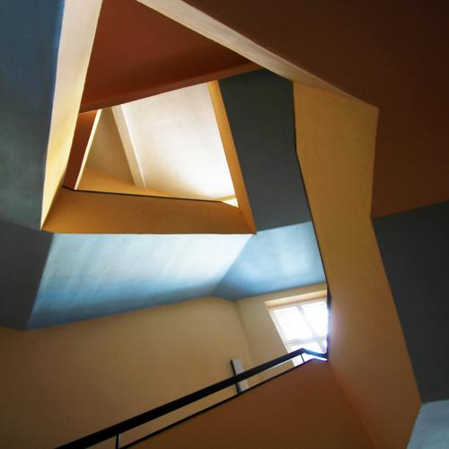 Tones | Box Jazz Work of art House (Residential Structure) Architecture Staircase (Hallway) Banister Esthetic Exceptional Elegant Hip & trendy Modern