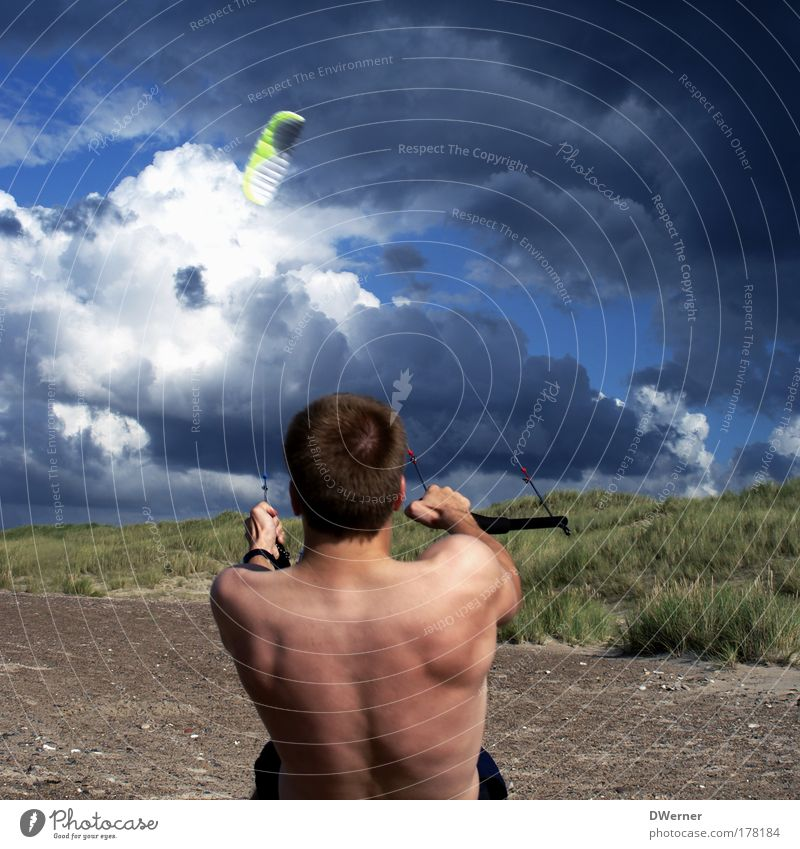Human being Sky Nature Youth (Young adults) Ocean Beach Clouds Adults Far-off places Life Sports Body Work and employment Power Flying Leisure and hobbies