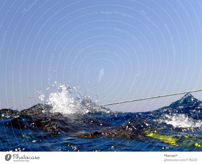 Sky Water Blue Sun Summer Joy Ocean Vacation & Travel Movement Waves Horizon Rope Leisure and hobbies Trip Swimming & Bathing Dive