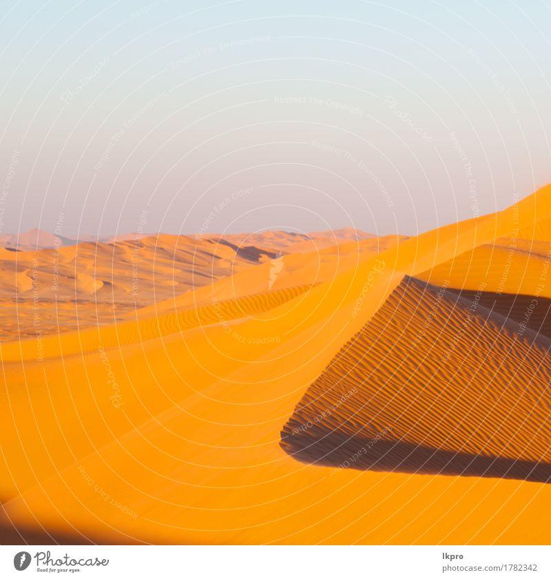 sand dune in oman old desert rub al khali Sky Nature Vacation & Travel Summer Beautiful White Sun Landscape Loneliness Black Yellow Gray Stone Sand Rock Tourism