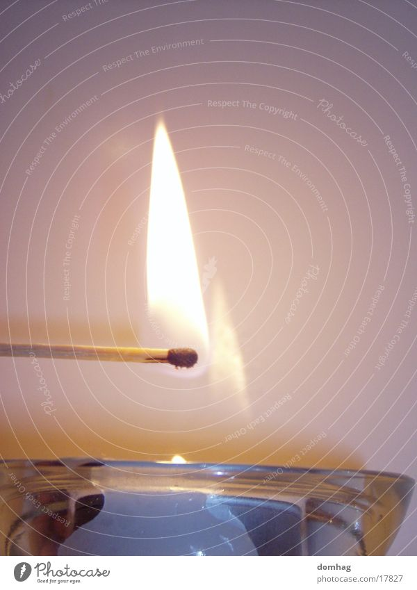 Blaze Candle Living or residing Flame Match Ignite