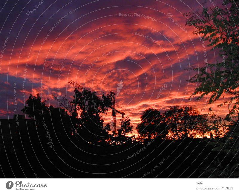 Sunset in MUNICH Red Clouds Munich Sky red clouds