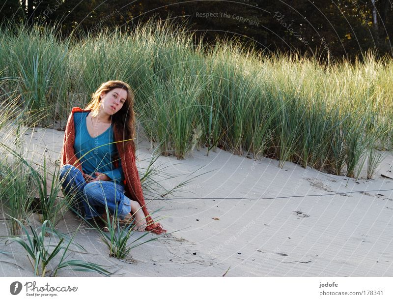 Woman Human being Nature Youth (Young adults) Beautiful Plant Sun Vacation & Travel Ocean Summer Beach Calm Adults Loneliness Far-off places Feminine