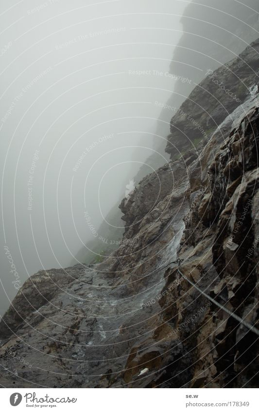 Loneliness Black Death Landscape Mountain Gray Lanes & trails Sadness Moody Rain Rock Fog Elements Alps Longing Trust