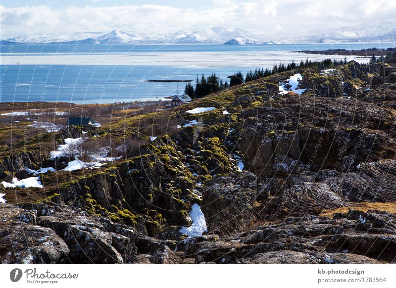 National park with lake Pingvallavatn in Iceland Vacation & Travel Tourism Adventure Far-off places Winter Winter vacation Landscape Mountain Thingvellir