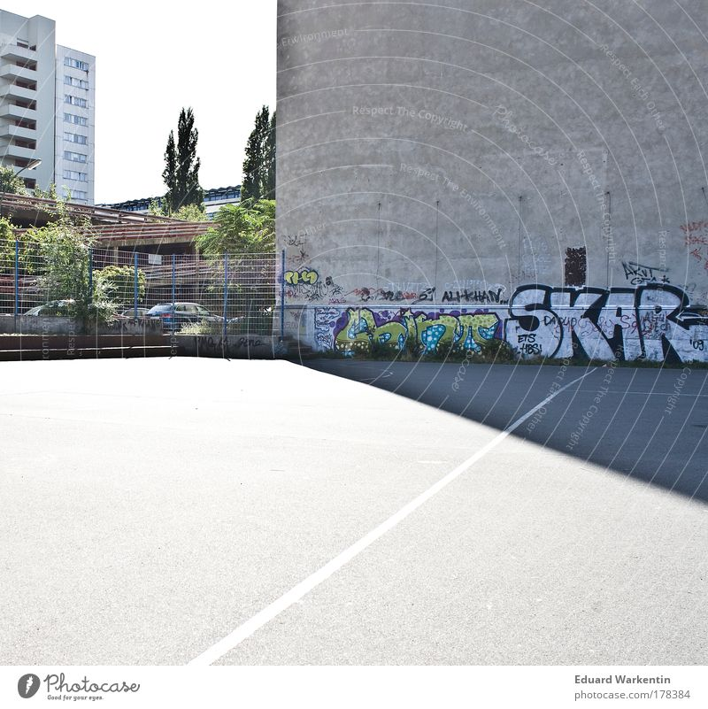 urban sports Sporting Complex Football pitch Youth culture Subculture Berlin Germany Europe Capital city House (Residential Structure) High-rise