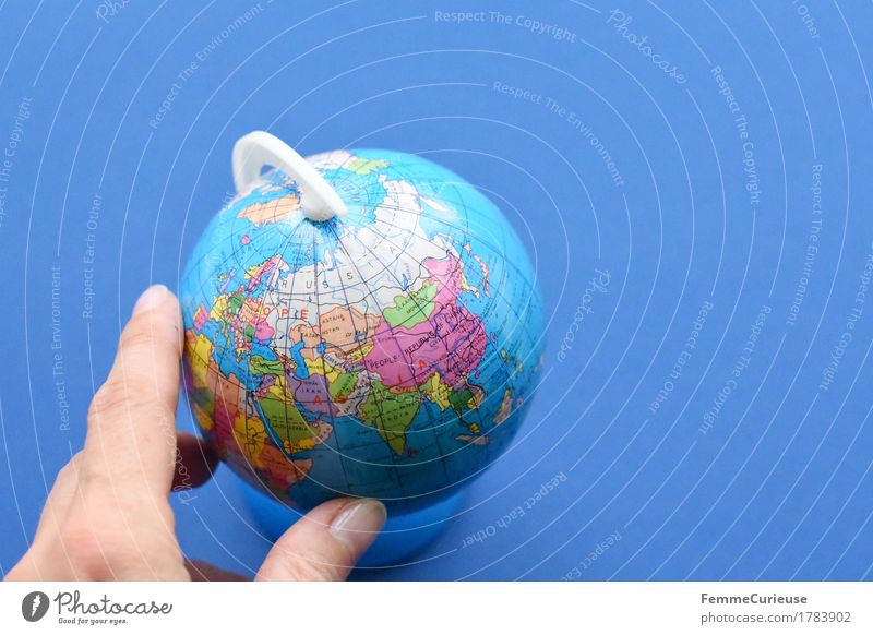 Vacation & Travel Hand Travel photography School Earth Europe Study Fingers To hold on Asia Sphere Argument Globe Rotate China India